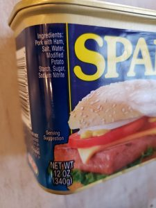 Ingredients in a can of Spam