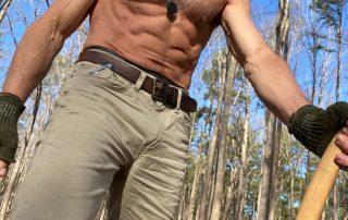 Wood chopping workout