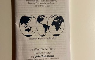 Weston Price Foundation 2021 shopping guide
