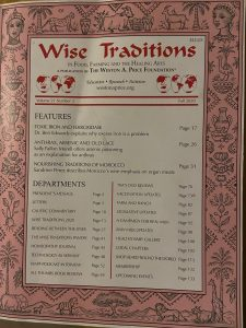 WAPF Wise Traditions